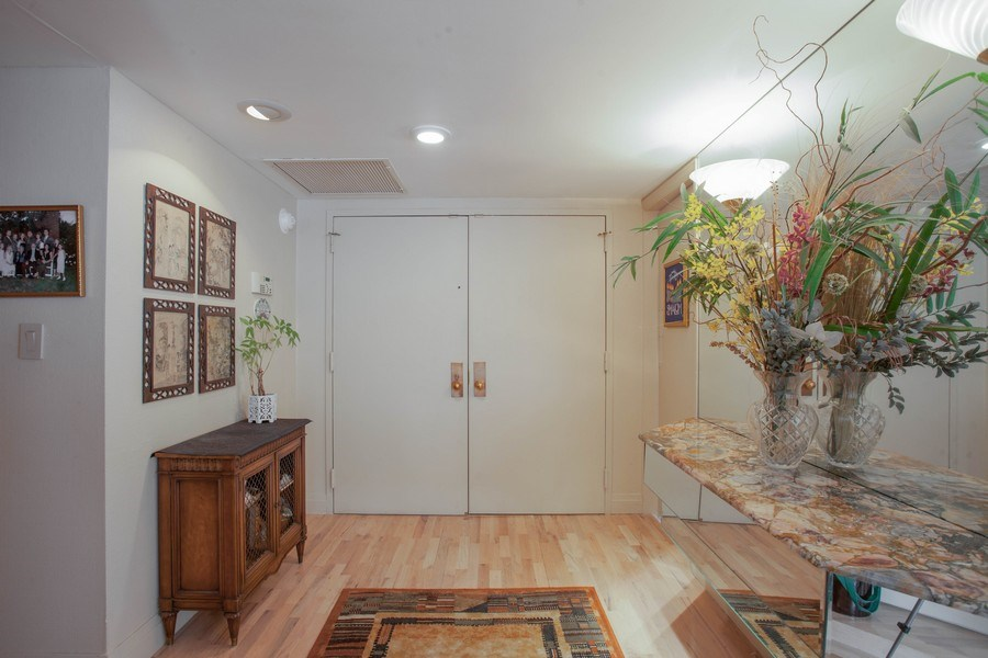 Real Estate Photography - 3 Grove Isle Dr, C1402, Miami, FL, 33133 - Foyer