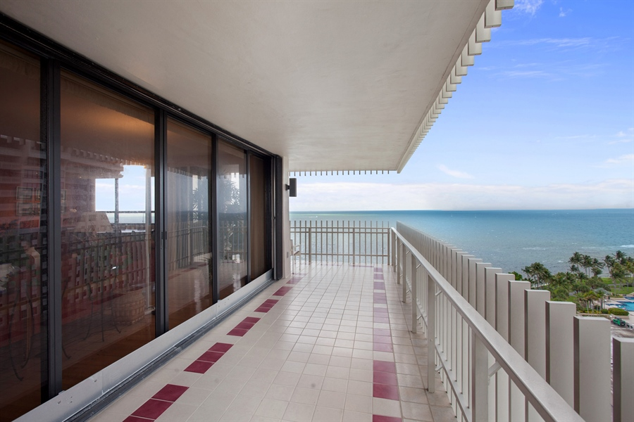 Real Estate Photography - 3 Grove Isle Dr, C1402, Miami, FL, 33133 - Balcony