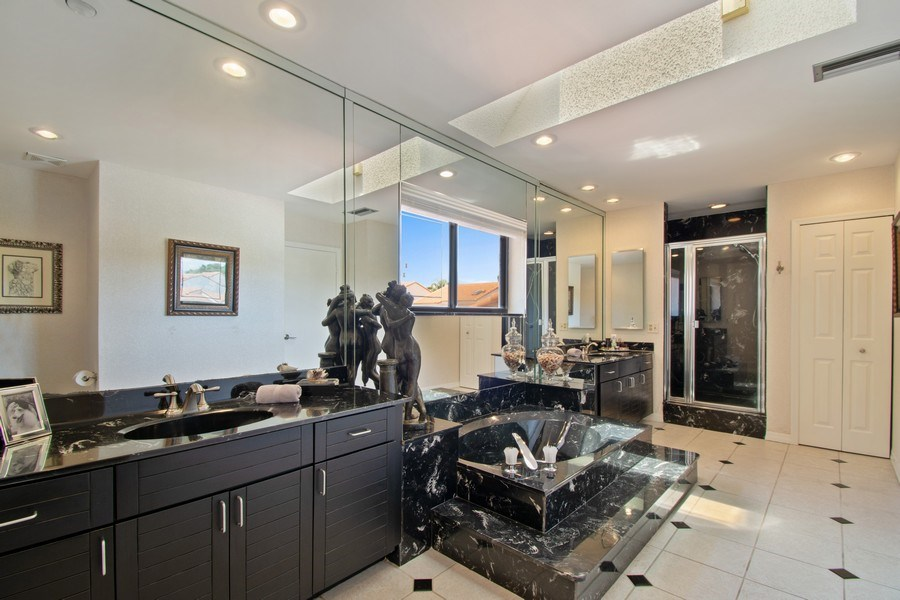 Real Estate Photography - 7336 Woodmont Ct, Boca Raton, FL, 33434 - Master Bathroom
