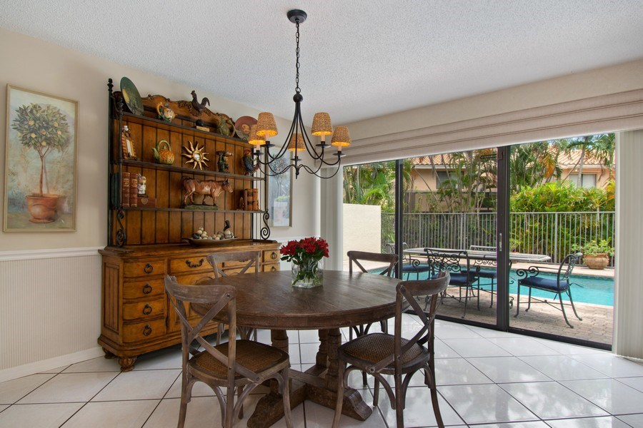 Real Estate Photography - 7336 Woodmont Ct, Boca Raton, FL, 33434 - Dining Room