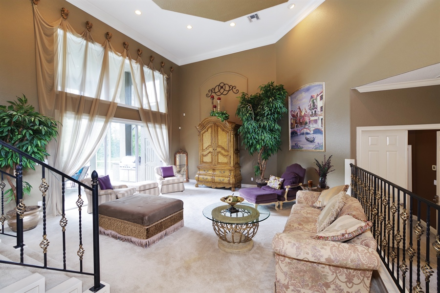 Real Estate Photography - 1741 Fountainhead Drive, Lake Mary, FL, 32746 - Living Room