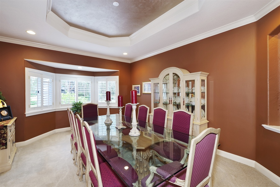 Real Estate Photography - 1741 Fountainhead Drive, Lake Mary, FL, 32746 - Dining Room