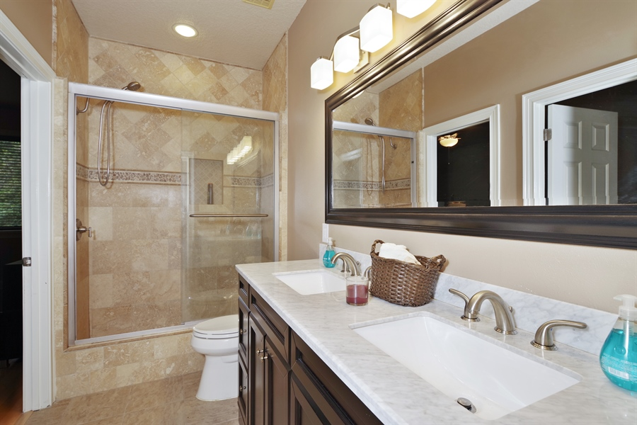Real Estate Photography - 1741 Fountainhead Drive, Lake Mary, FL, 32746 - 2nd Bathroom