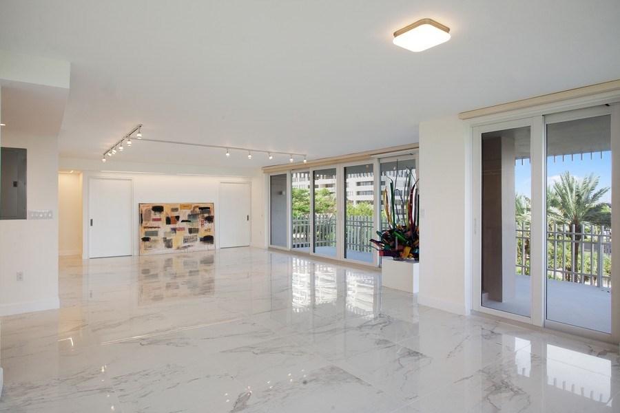 Real Estate Photography - 2 Grove Isle Dr, Unit B410, Coconut Grove, FL, 33133 - Living Room