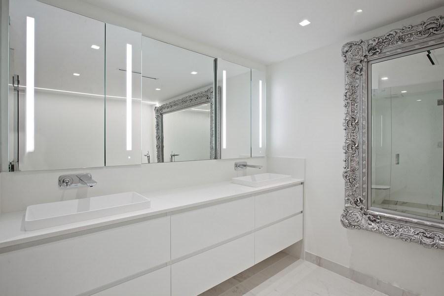 Real Estate Photography - 2 Grove Isle Dr, Unit B410, Coconut Grove, FL, 33133 - Master Bathroom