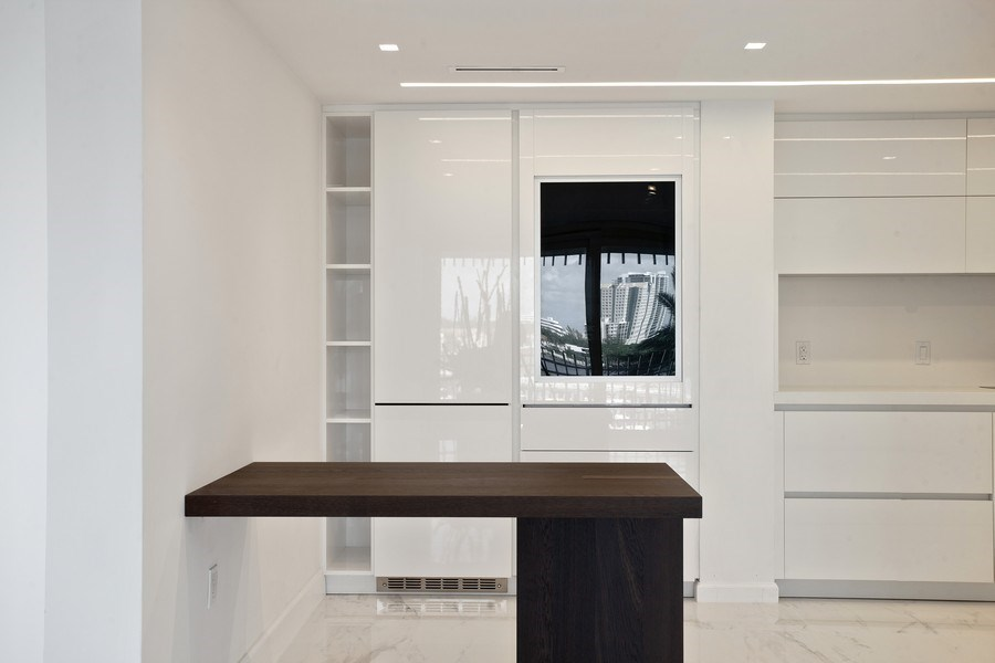 Real Estate Photography - 2 Grove Isle Dr, Unit B410, Coconut Grove, FL, 33133 - Kitchen