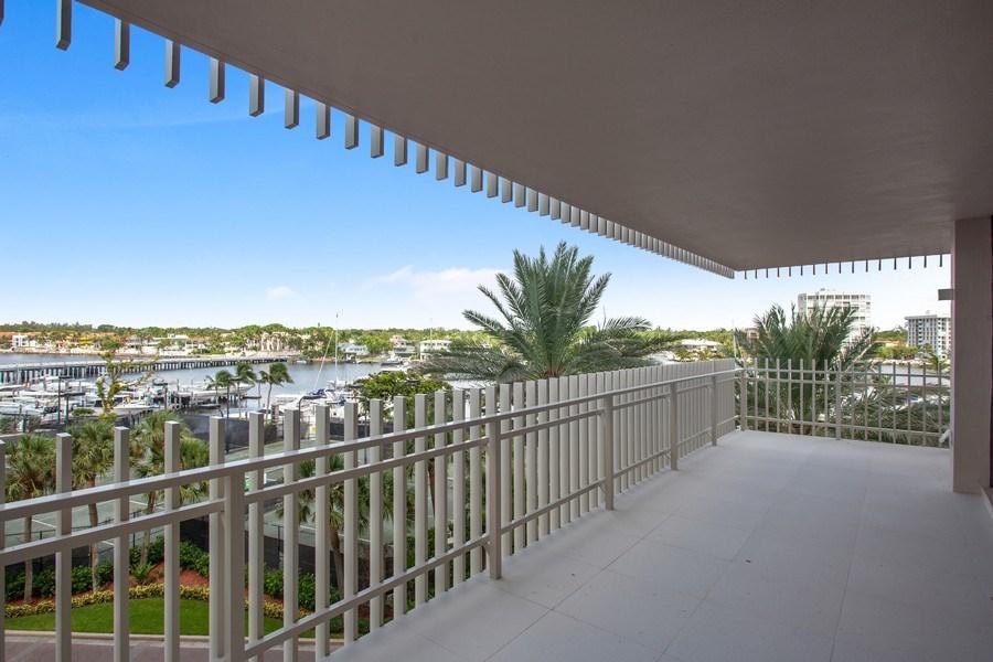 Real Estate Photography - 2 Grove Isle Dr, Unit B410, Coconut Grove, FL, 33133 - Balcony