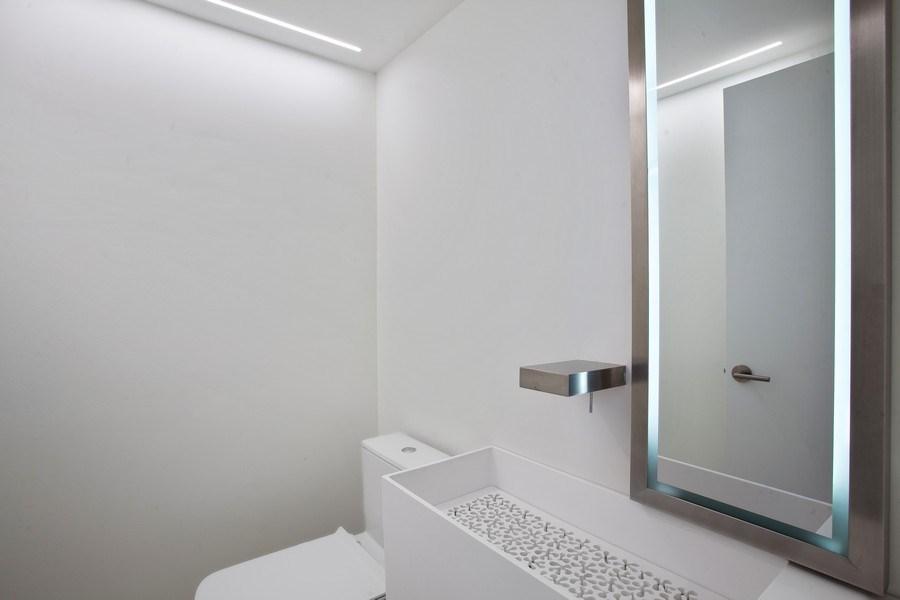 Real Estate Photography - 2 Grove Isle Dr, Unit B410, Coconut Grove, FL, 33133 - Half Bath