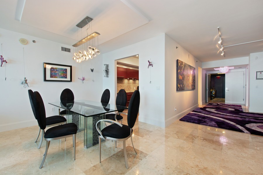 Real Estate Photography - 101. S FORT LAUDERDALE BEACH BLVD #1002, APT 1002, FORT LAUDERDALE, FL, 33065 - Dining Room