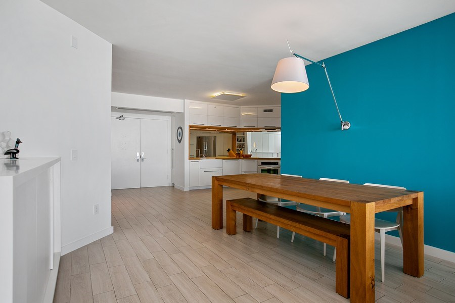 Real Estate Photography - 4775 Collins Ave, 2102, Miami Beach, FL, 33140 - Dining Room