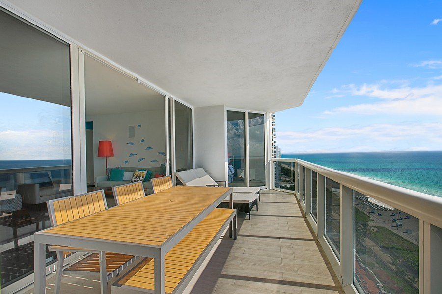 Real Estate Photography - 4775 Collins Ave, 2102, Miami Beach, FL, 33140 - Balcony