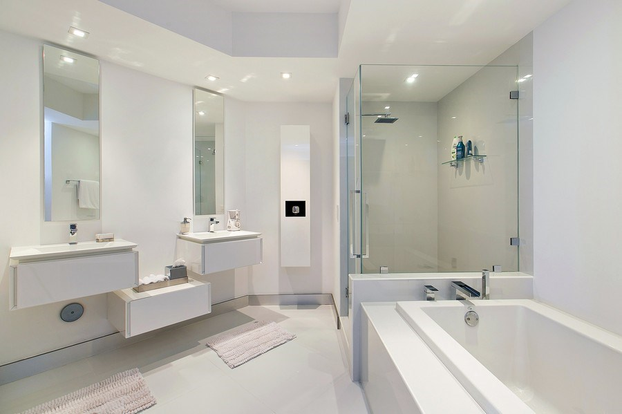 Real Estate Photography - 4775 Collins Ave, 3002, Miami Beach, FL, 33140 - Master Bathroom