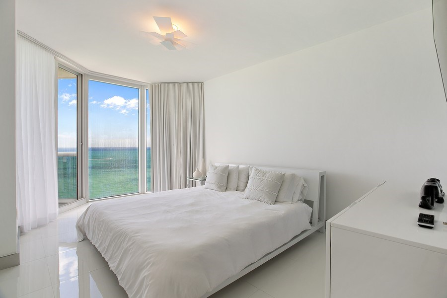 Real Estate Photography - 4775 Collins Ave, 3002, Miami Beach, FL, 33140 - Master Bedroom