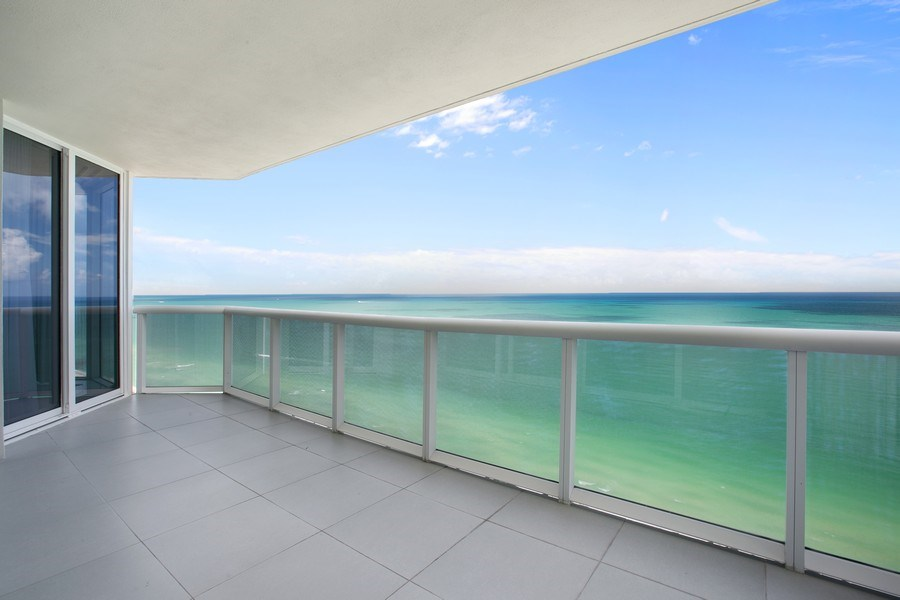 Real Estate Photography - 4775 Collins Ave, 3002, Miami Beach, FL, 33140 - Balcony