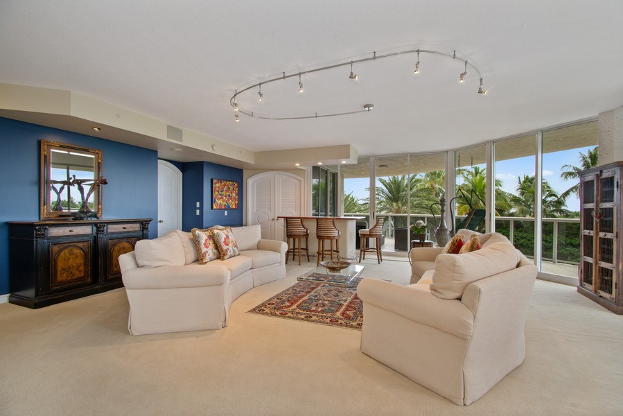 Real Estate Photography - 3100 N Ocean Blvd, Unit 510, Fort Lauderdale, FL, 33308 - Living Room