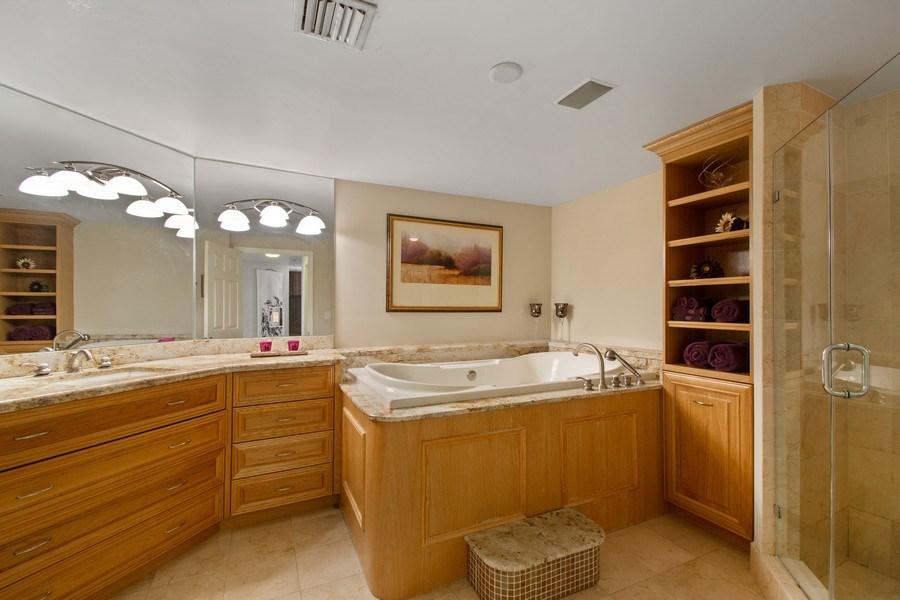 Real Estate Photography - 3100 N Ocean Blvd, Unit 510, Fort Lauderdale, FL, 33308 - Master Bathroom