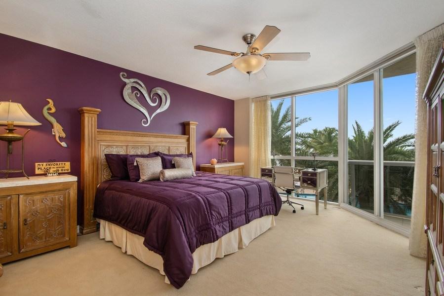 Real Estate Photography - 3100 N Ocean Blvd, Unit 510, Fort Lauderdale, FL, 33308 - Master Bedroom