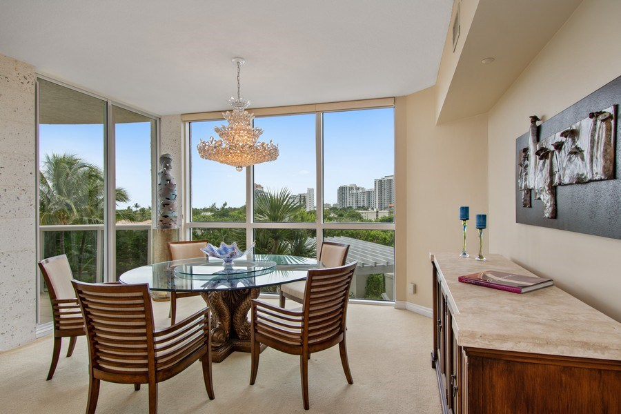 Real Estate Photography - 3100 N Ocean Blvd, Unit 510, Fort Lauderdale, FL, 33308 - Dining Room