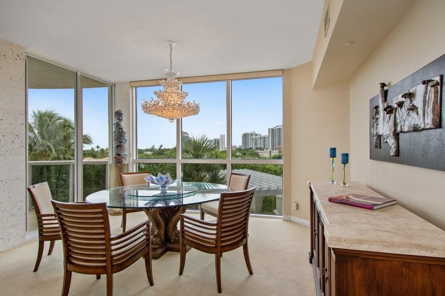 Real Estate Photography - 3100 N Ocean Blvd, Unit 510, Fort Lauderdale, FL, 33308 - Dining Room