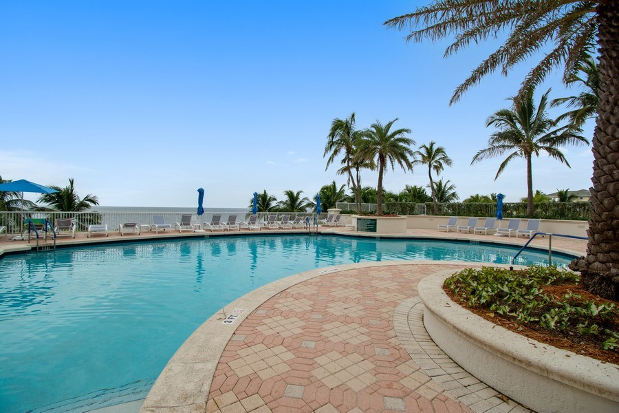 Real Estate Photography - 3100 N Ocean Blvd, Unit 510, Fort Lauderdale, FL, 33308 - Pool