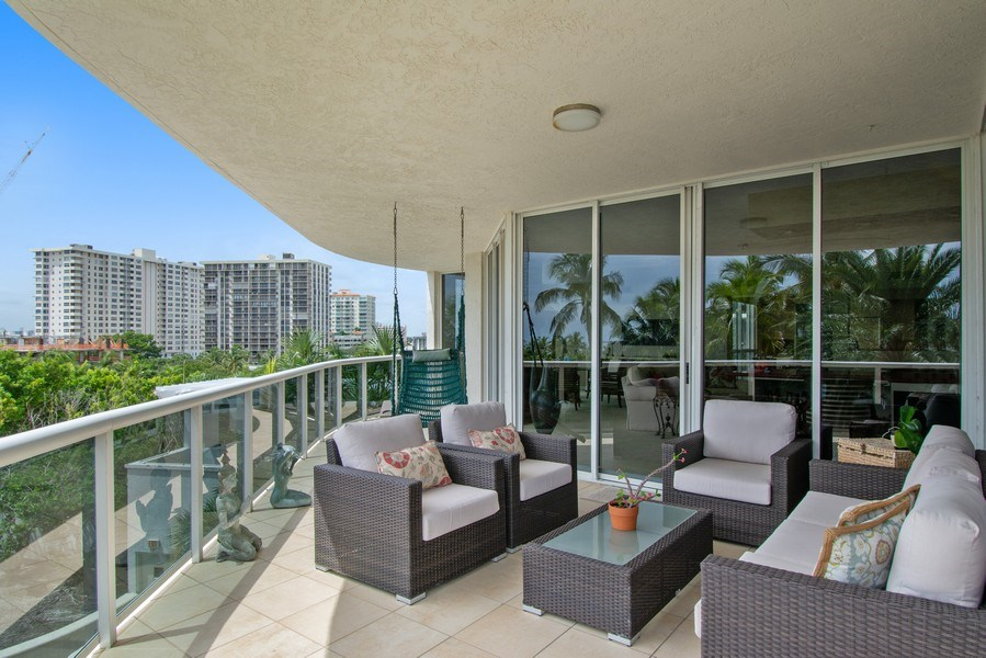 Real Estate Photography - 3100 N Ocean Blvd, Unit 510, Fort Lauderdale, FL, 33308 - Balcony
