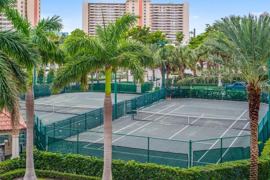 Real Estate Photography - 3100 N Ocean Blvd, Unit 510, Fort Lauderdale, FL, 33308 - Tennis Court