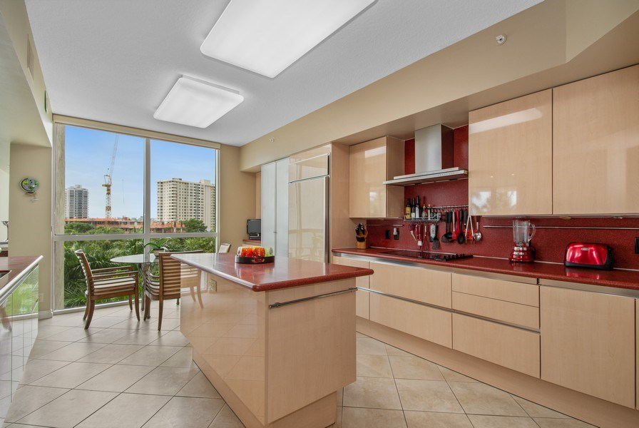 Real Estate Photography - 3100 N Ocean Blvd, Unit 510, Fort Lauderdale, FL, 33308 - Kitchen