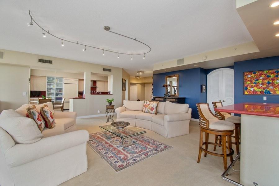 Real Estate Photography - 3100 N Ocean Blvd, Unit 510, Fort Lauderdale, FL, 33308 - Kitchen / Living Room