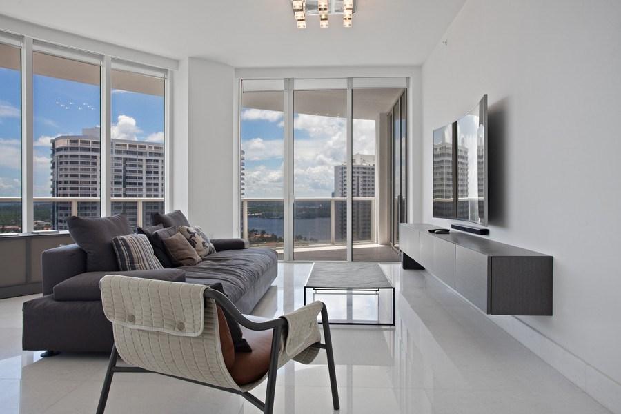 Real Estate Photography - 4100 Island Blvd. #2001, Aventura, FL, 33160 - Living Room
