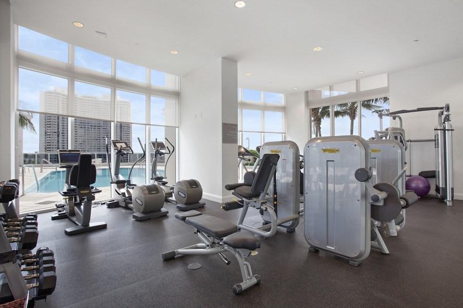 Real Estate Photography - 4100 Island Blvd. #2001, Aventura, FL, 33160 - Gym