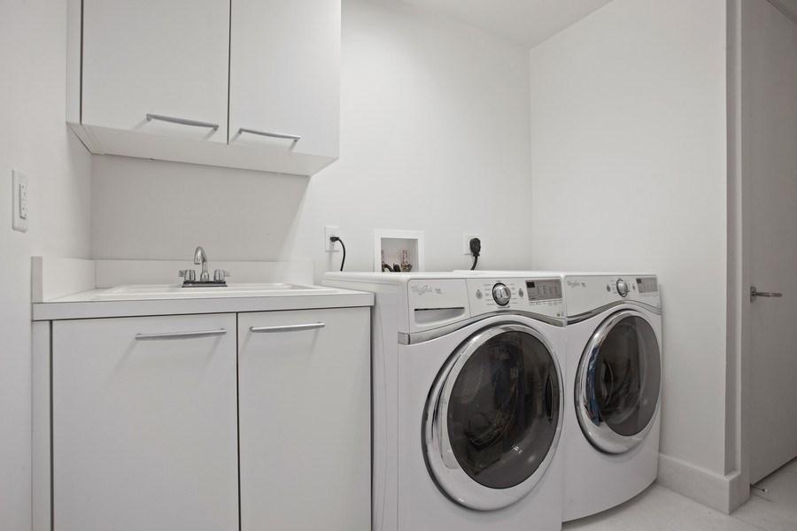 Real Estate Photography - 4100 Island Blvd. #2001, Aventura, FL, 33160 - Laundry Room