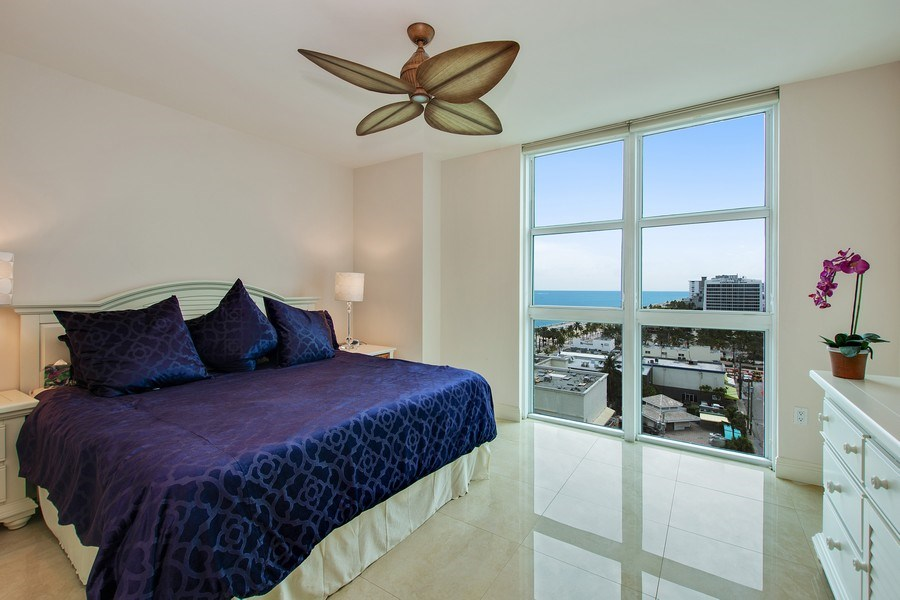 Real Estate Photography - 101 S Fort Lauderdale Beach Blvd, 1201, Fort Lauderdale, FL, 33316 - 2nd Bedroom