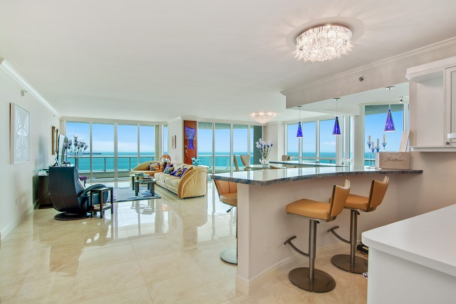 Real Estate Photography - 101 S Fort Lauderdale Beach Blvd, 1201, Fort Lauderdale, FL, 33316 - Entertainment Room
