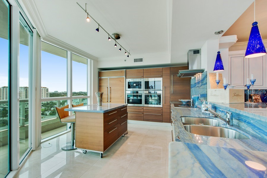 Real Estate Photography - 101 S Fort Lauderdale Beach Blvd, 1201, Fort Lauderdale, FL, 33316 - Kitchen