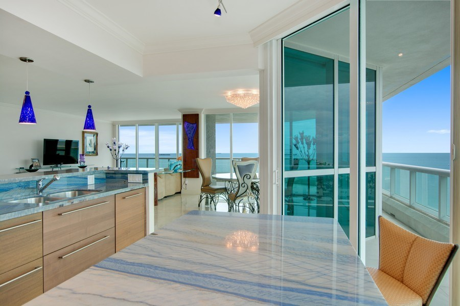 Real Estate Photography - 101 S Fort Lauderdale Beach Blvd, 1201, Fort Lauderdale, FL, 33316 - Breakfast Nook
