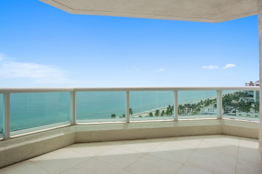 Real Estate Photography - 101 S Fort Lauderdale Beach Blvd, 1201, Fort Lauderdale, FL, 33316 - Balcony
