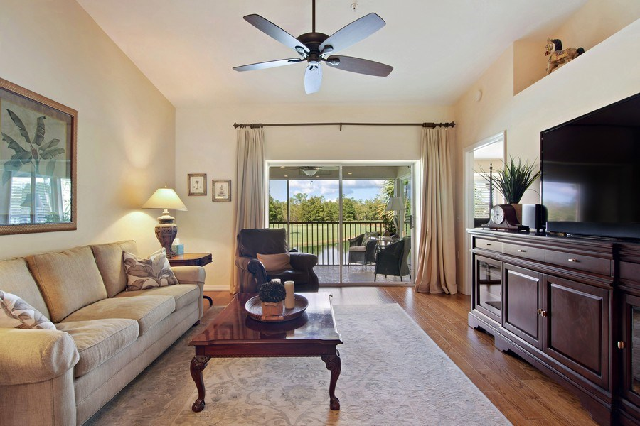Real Estate Photography - 3860 Sawgrass Way, 2625, Naples, FL, 34112 - Living Room