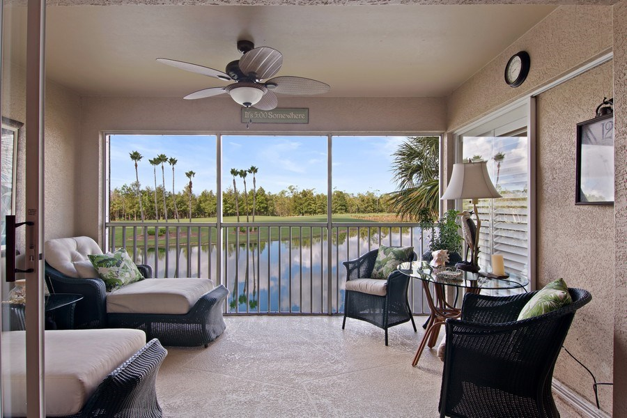 Real Estate Photography - 3860 Sawgrass Way, 2625, Naples, FL, 34112 - Patio