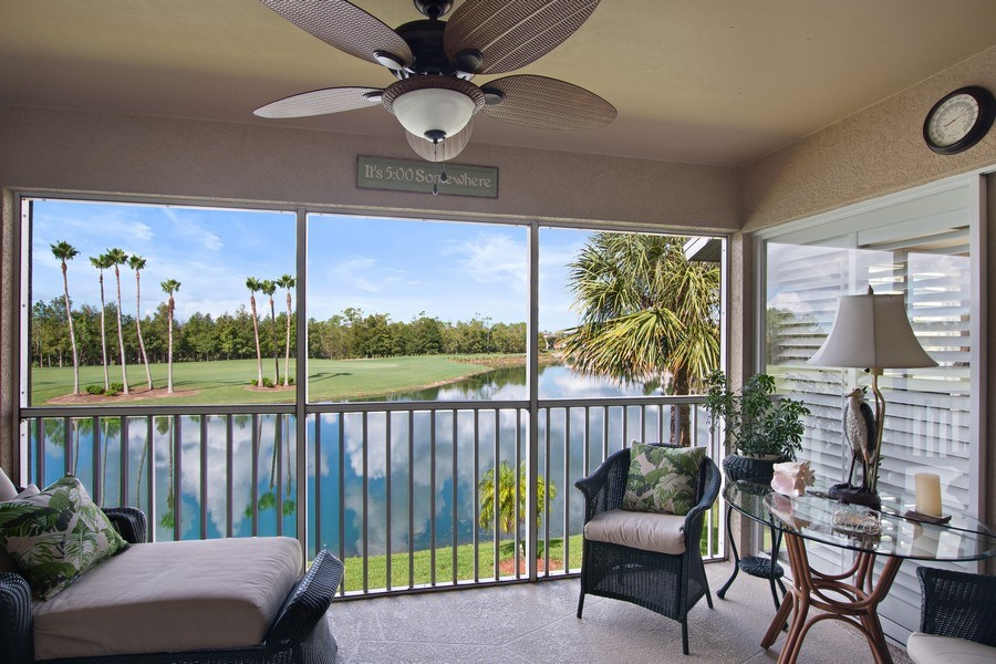 Real Estate Photography - 3860 Sawgrass Way, 2625, Naples, FL, 34112 - Rear Lanai