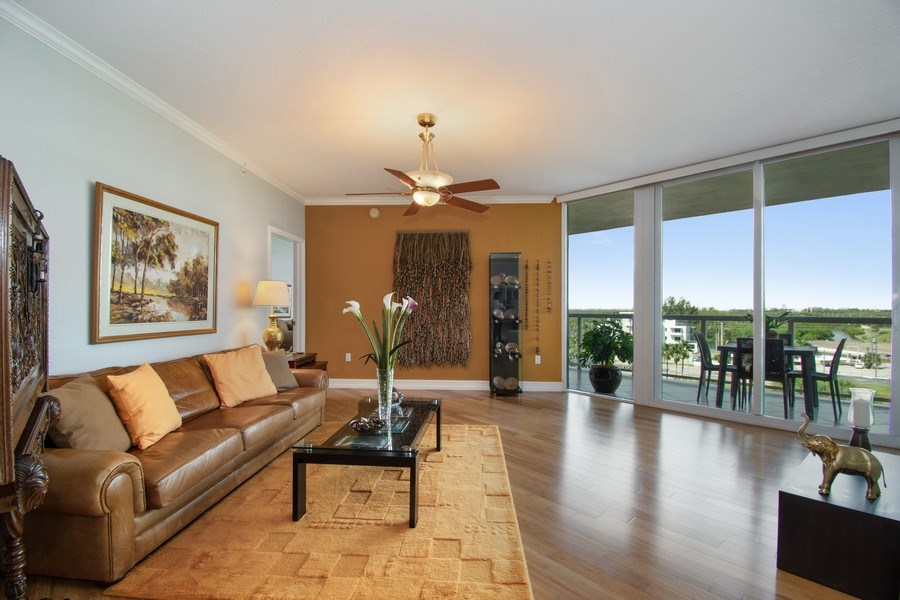 Real Estate Photography - 6051 N Ocean Drive, Unit 603, Hollywood, FL, 33019 - Living Room