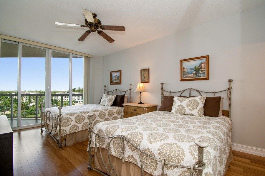 Real Estate Photography - 6051 N Ocean Drive, Unit 603, Hollywood, FL, 33019 - Bedroom