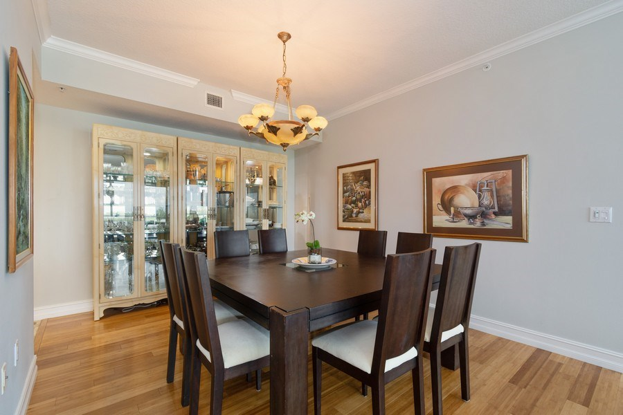 Real Estate Photography - 6051 N Ocean Drive, Unit 603, Hollywood, FL, 33019 - Dining Room