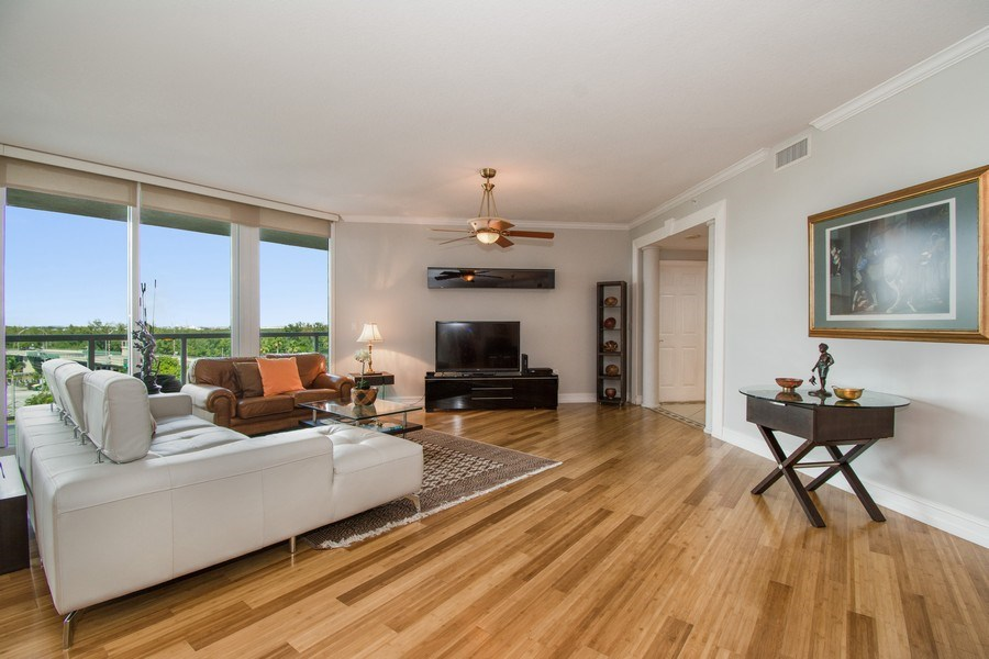 Real Estate Photography - 6051 N Ocean Drive, Unit 603, Hollywood, FL, 33019 - Family Room
