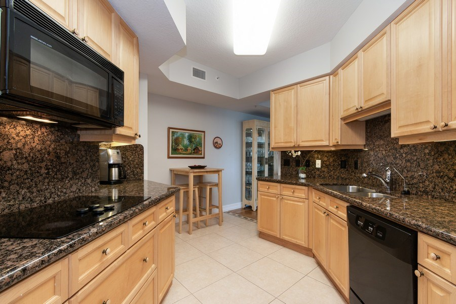 Real Estate Photography - 6051 N Ocean Drive, Unit 603, Hollywood, FL, 33019 - Kitchen