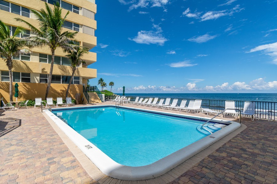 Real Estate Photography - 1238 Hillsboro Mile, Unit 307, Hillsboro Beach, FL, 33062 - Pool