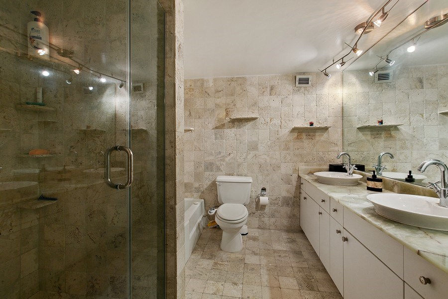Real Estate Photography - 5700 Collins Ave, Unit 5L, Miami Beach, FL, 33140 - Master Bathroom