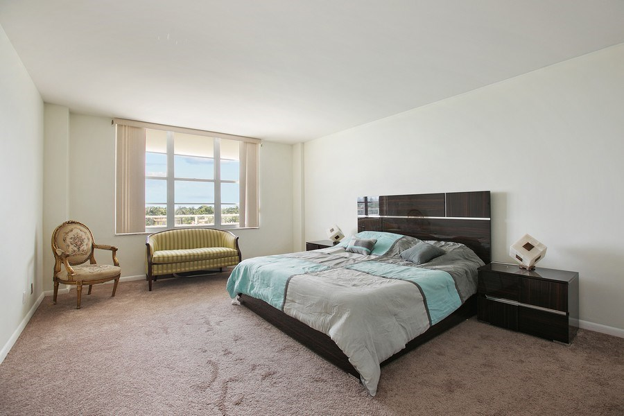 Real Estate Photography - 5700 Collins Ave, Unit 5L, Miami Beach, FL, 33140 - Master Bedroom