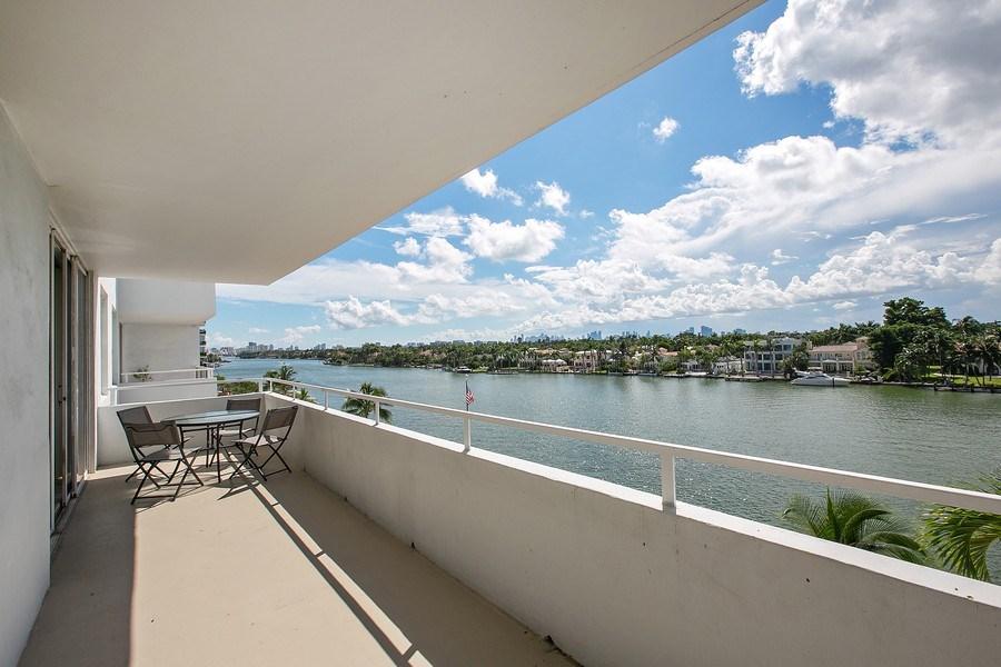 Real Estate Photography - 5700 Collins Ave, Unit 5L, Miami Beach, FL, 33140 - Balcony