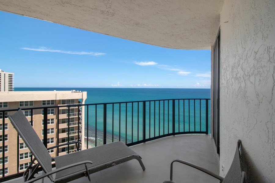 Real Estate Photography - 5420 N Ocean Dr., 2003, Singer Island, FL, 33404 - Balcony