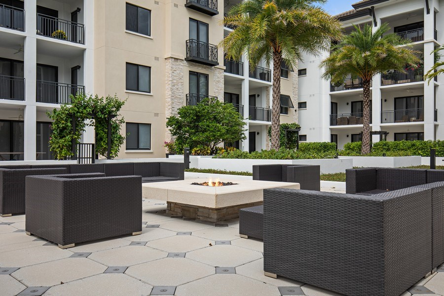 Real Estate Photography - 1035 3rd Ave S, #510, naples, FL, 34102 - Fire Pit